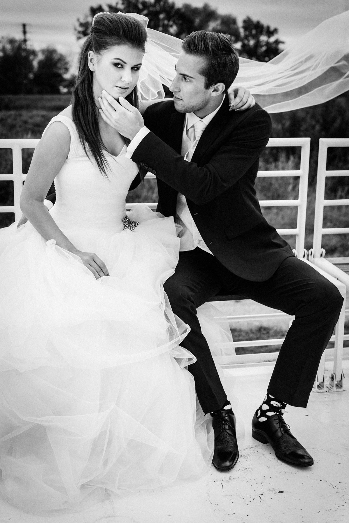 Svatební pár na lodi