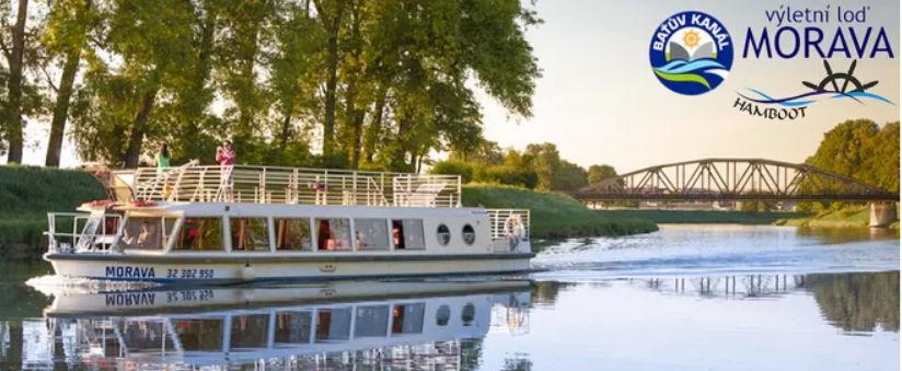 Loď Morava plavba Baťův kanál AKCE