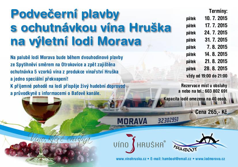 Podvečerní plavby s vínem Hruška